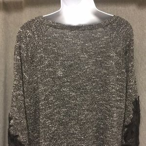 Maurices Sweaters - 3/4 textured sweater with velvet detail